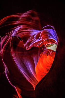 Heart Of Antelope Canyon Poster
