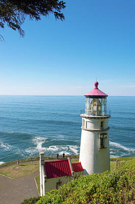 Poster featuring the photograph Heceta Head Lighthouse Oregon by Rospotte Photography
