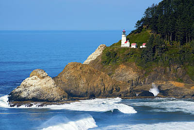 Poster featuring the photograph Heceta Head Lighthouse1107 by Rospotte Photography