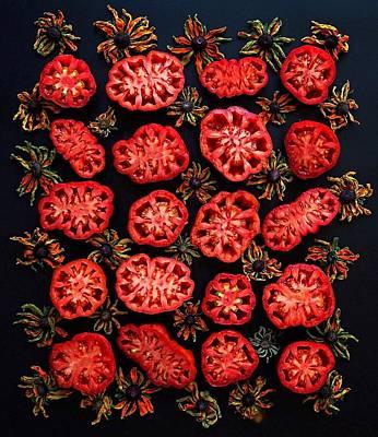 Heirloom Tomato Grid Poster