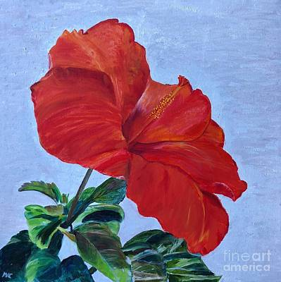 Poster featuring the painting Hibiscus by Mkc
