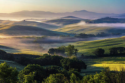 Hilly Tuscany Valley Poster