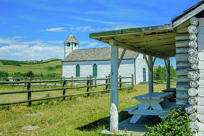 Historic Mcdougall Church, Morley, Alberta, Canada Poster