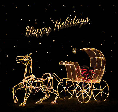 Holiday Carriage Poster