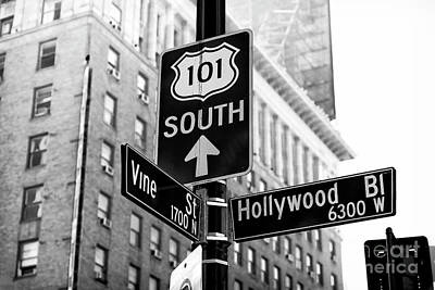 Hollywood And Vine Street Sign Poster