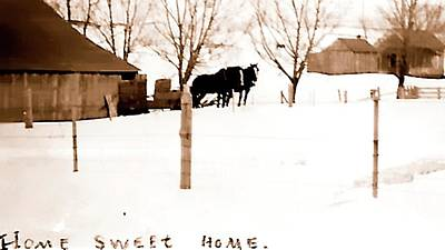 Poster featuring the photograph Home Sweet Home 1917 by Jerry Sodorff