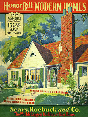 Honor Bilt Modern Homes Sears Roebuck And Co 1930 Poster