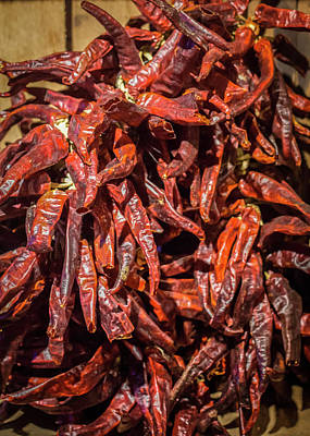 Hot Spicy Peppers Poster
