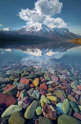 Poster featuring the photograph Immaculate Reflection / Lake Mcdonald, Glacier National Park  by Nicholas Parker