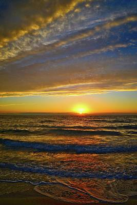 Poster featuring the photograph Incredible Sunrise Over The Atlantic Ocean by Lynn Bauer