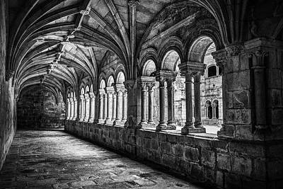 Interior Corridors Of The Monastery Of Santo Estevo De Ribas Del Sil Poster