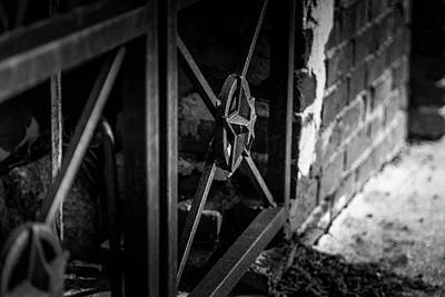 Poster featuring the photograph Iron Gate In Bw by Doug Camara