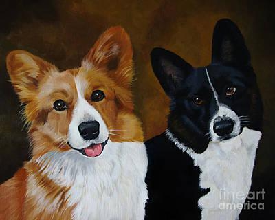 James And Joy Custom Portrait Painting Poster