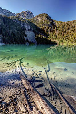 Poster featuring the photograph Joffre Lake Middle On A Calm Sunny Morning by Pierre Leclerc Photography