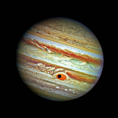 Poster featuring the photograph Jupiter And Ganymead Shadow Outer Space Image by Bill Swartwout Fine Art Photography