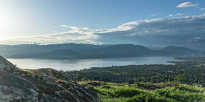 Kelowna And Okanagan Lake Poster