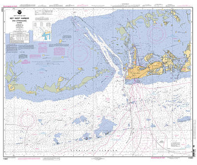 Key West Harbor And Approaches, Noaa Chart 11441 Poster