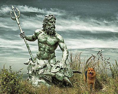 Poster featuring the photograph King Neptune And Miss Hanna At Cape Charles by Bill Swartwout Fine Art Photography