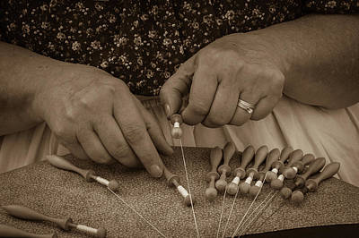 Poster featuring the photograph Lacemaker 1364 by Guy Whiteley
