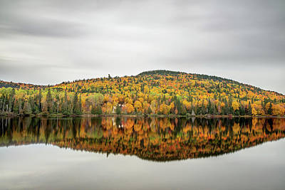 Poster featuring the photograph Lake Shore House In Autumn by Pierre Leclerc Photography