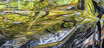 Lamborghini Fall Reflections Poster