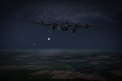 Poster featuring the photograph Lancaster Baleout by Gary Eason