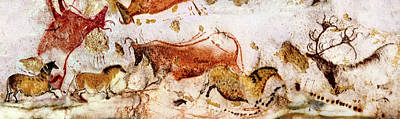 Lascaux Cows Horses And Deer Poster