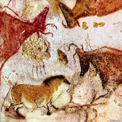 Lascaux Horse And Cows Poster