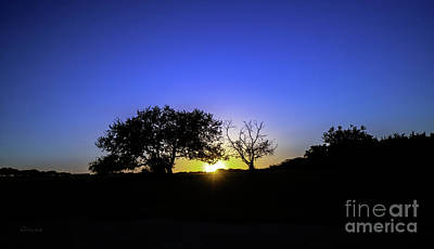 Last Light Texas Hill Country Paradise Canyon Sunset 8053a Poster