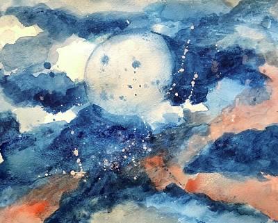 Last Nights Magic Moon Poster