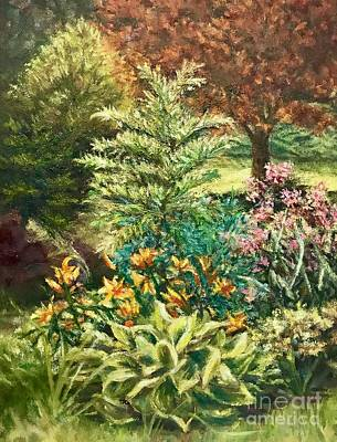 Poster featuring the painting Late Summer Garden by Gail Allen
