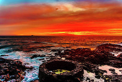 Lava Bath After Sunset Poster