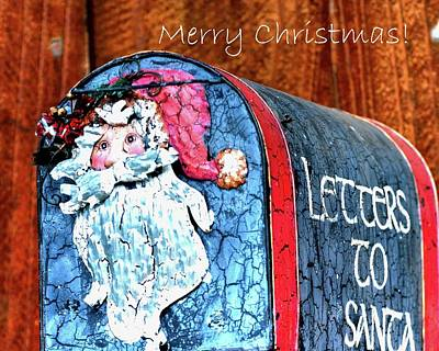 Poster featuring the photograph Letters To Santa Greeting by Jerry Sodorff