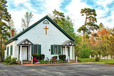 Poster featuring the photograph Little Church In The Pines by Kristia Adams