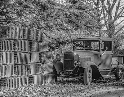 Lobster Pots And Truck Poster
