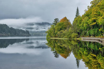 Poster featuring the photograph Loch Ard In Scotland by Jeremy Lavender Photography