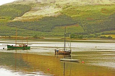 Loch Leven. The Boats At Ballachulish Poster