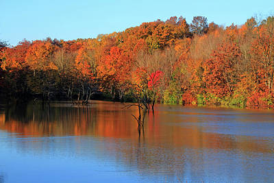 Poster featuring the photograph Looking Out Over Alum Creek by Angela Murdock