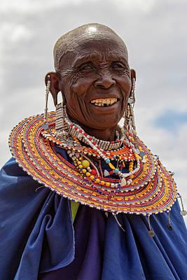 Maasai Woman In Tanzania Poster