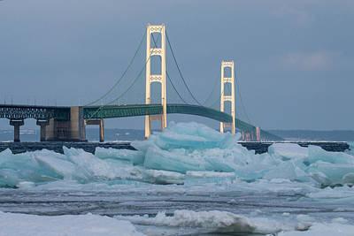 Mackinac Bridge In Ice 2161809 Poster