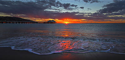 Malibu Pier Sunrise Poster