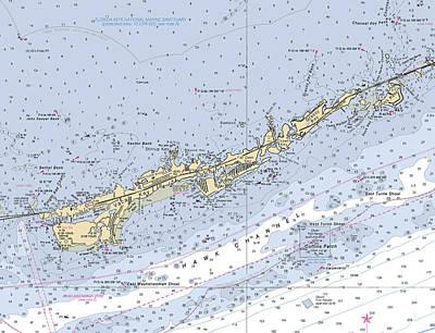 Marathon And Duck Keys Custom Noaa Nautical Chart Poster