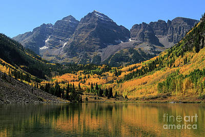 Maroon Bells In Fall Poster