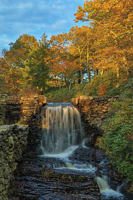 Poster featuring the photograph Massachusetts Fall Colors At Moore State Park  by Juergen Roth