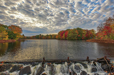 Poster featuring the photograph Massachusetts Fall Foliage At Mill Pond by Juergen Roth