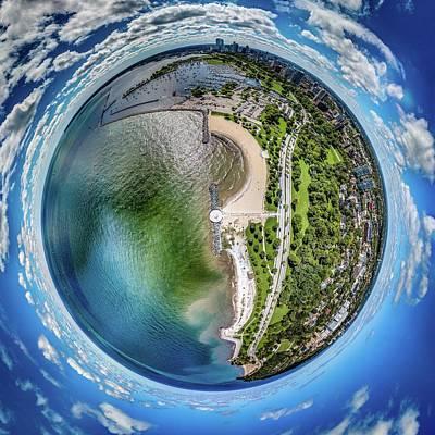Poster featuring the photograph Mckinley Park Little Planet by Randy Scherkenbach