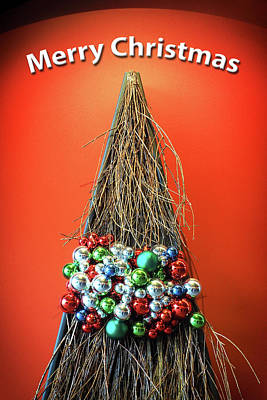 Poster featuring the photograph Merry Christmas Twig Tree by Bill Swartwout Fine Art Photography