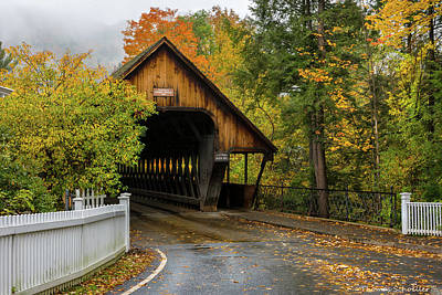 Poster featuring the photograph Middle Covered Bridge - Woodstock Vermont by Expressive Landscapes Fine Art Photography by Thom