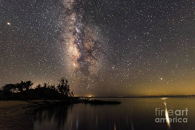 Poster featuring the photograph Milky Way Over The Outer Banks by Terry Rowe