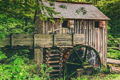 Mill At Cades Cove Poster